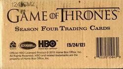 Game Of Thrones Season 4 Factory Sealed Case Of 12 Trading Card Boxes