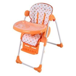 Incredible Caraya Baby High Chair Infant Toddler Feeding Booster Seat Folding Orange Adjustable R3110 00 Baby Care Pricecheck Sa Spiritservingveterans Wood Chair Design Ideas Spiritservingveteransorg