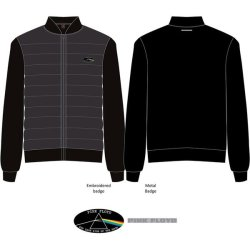 Pink Floyd - Dark Side Of The Moon Oval Unisex Quilted Jacket - Black Small