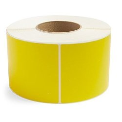 "Yellow 4"" X 6"" Direct Thermal For Zebra 2844 ZP-450 ZP-500 ZP-505 Shipping Labels 1"" Cores 250 Labels Per Roll Permanent Adhesive Perforations Between Labels 4 Rolls"
