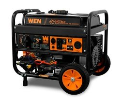 WEN DF475T 4750-WATT 120V 240V Dual Fuel Portable Generator With Wheel Kit And Electric Start - Carb Compliant