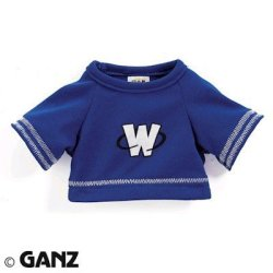 Ganz Webkinz Clothing Blue Football Jersey