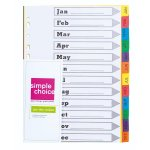 SIMPLE CHOICE - A4 File Index Jan-dec Divider
