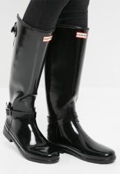 Hunter Original Refined Adjustable Gloss - Black