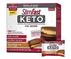 Slimfast Keto Peanut Butter Cup Fat Bomb 0.59 Oz 14 Per Box 4 Boxes