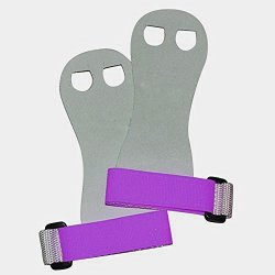 Venus Beginner Soft Hook And Loop Gymnastics Grips. Youth Gymnastic Hand Grip. White purple Small