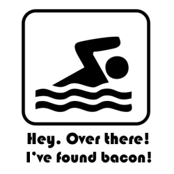 Hey. Over There I've Found Bacon Red