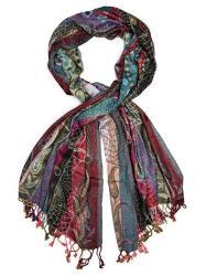 Bohomonde Harina Shawl Woven Reversible Striped Pashmina Scarf Hand Made In India Royal