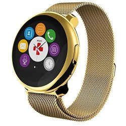 MyKronoz Zeround Premium- Elegant Smartwatch With Circular Touchscreen Yellow Gold yellow Gold Mila
