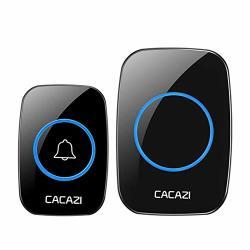 Ocamo Wireless Doorbell Waterproof Range For Door Bell Home Chimes Ring Eu Plug