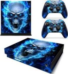 Decal Skin For Xbox One X: Blue Skull
