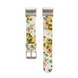 Floral Band For Fitbit Charge 2 - White & Yellow