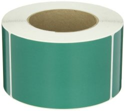 "Aviditi DL632D Rectangle Inventory Color Coded Label 5"" Length X 3"" Width Green Roll Of 500"
