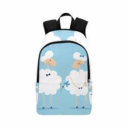 Dkgfnk Bags For Hiking Shy Sheep Gentle Elegant Durable Water Resistant Classic Mens Laptop Bookbag High School Bag Women Hiking Bag Casual Hiking Bag