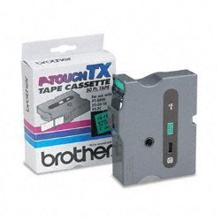 """BrOther P-touch Genuine BrOther 1"""" 24MM Black On Green Tx P-touch Tape For BrOther PT-8000 PT8000 Label Maker"""
