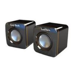 Lestech USB 2.0 Desktop Speakers