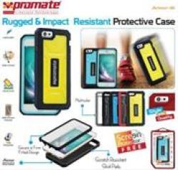 Promate Armor-i6 Rugged & Impact Resistant Yellow Protective Case for Apple iPhone 6 in Yellow
