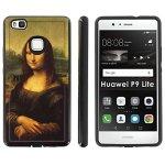 HUAWEI P9 Lite Slim Dual Layer Phone Case Mobiflare Black black Slim Dual Shock Phone Cover - Mona Lisa For P9 Lite 5 Screen