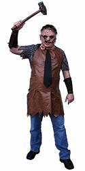 Trick Or Treat Studios Texas Chainsaw Massacre Remake Leatherface Adult Costume Brown