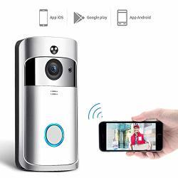 Accreate Home Wireless Wifi Ring Doorbell Video Camera Smart Phone Bell Intercom Security Silver