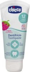 Chicco Toothpaste Strawberry 50ML |12M+ Flouride