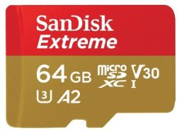 SanDisk Extreme Micro Sdxc 64GB 160MB S R 60MB S Memory Card