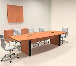 Modern Boat Shaped 10' Feet Conference Table OF-CON-CP1