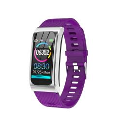 AK12 1.14 Inch Ips Color Screen Smart Watch IP68 Waterproof Silicone Watchband Support Call Reminder heart Rate Monitoring blood Pressure Monitoring sleep Monitoring predict Menstrual Cycle Intelligently Purple