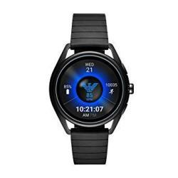 Emporio Armani Men's Touch-screen Smartwatch With Rubber Strap Black 20 Model: ART5017
