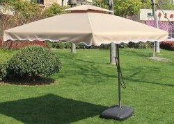 Cantilever Garden Umbrella - Square - White