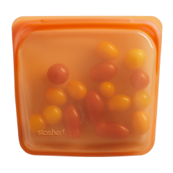 Stasher Reusable Silicone Sandwich Bag in Citrus