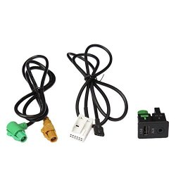 MonkeyJack Car 3.5mm Male Audio AUX In Cable Interface Adapter for iPod for Hyundai Kia