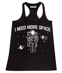 P&b I Need More Space Funny Science Women's Tank Top L Black