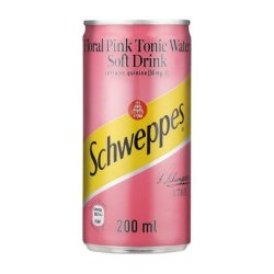 Schweppes Tonic w Flo pink Can 200ML