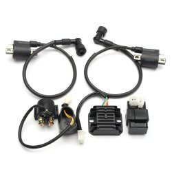 HIAORS 4 Pin Wire 12V Voltage Regulator Rectifier Male Plug for GY6 50cc 150cc CG 125cc 150cc 200cc 250cc Motorcycle Scooter Moped Dirt Bike Go Kart ATV