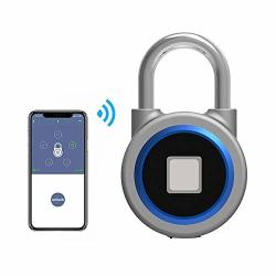 Teepao Fingerprint Padlock Bluetooth Smart Fingerprint Lock IP65 Waterproof For House Door Suitcase Backpack Gym Bike Office