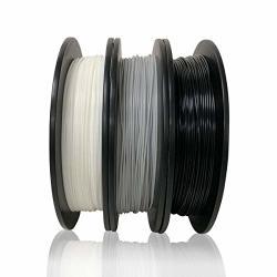 Dikale Pla 3D Printer Filament 3 Assorted Colors 500G Per Spool 3 Spools 1.75MM Dimensional Accuracy + - 0.02 Mm Suitable For Ender 3 3D Printer Etc