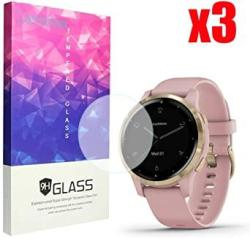For Garmin Vivoactive 4S Screen Protector Blueshaw 9H Tempered Glass Screen Protector V Voactive 4S 40MM Smartwatch 3 Pack