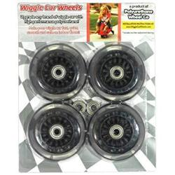 Wiggle Car Polyurethane Replacement Wheels - Black
