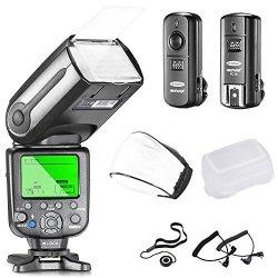 Neewer NW565EX Professional E-ttl Slave Flash Speedlite Kit For Canon Dslr Cameras- Includes: Auto-focus FLASH+2.4G Wireless TRI