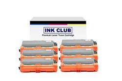 Inkclub 6PK Premium Compatible TN750 TN720 High Yield Black Toner Cartridge Replacement Use For Brother DCP-8110DN DCP-8150DN DCP-8155DN HL-6180DWT