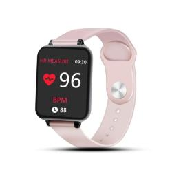 B57 1.3 Inch Ips Color Screen Smart Watch IP67 Waterproof Support Message Reminder Heart Rate Monitor Sedentary Reminder Blood Pressure Monitoring Sleeping Monitoring Pink