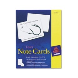 : Avery-dennison : Printer Compatible Cards 4-1 4 X 5-1 2 2 Per Sheet 60 Per Box With Envelopes
