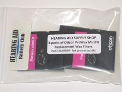 3 Packs Genuine Oticon Prowax Minifit Replacement Wax Filters