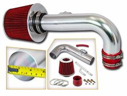 Rtunes Racing Short RAM Air Intake Kit + Filter Combo Red For 11-15 Chevy Cruze 1.4L Turbo 12-15 Chevy Sonic 1.4L Turbo Model