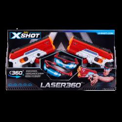 LASER360 Double Laser Blaster Pack 2 Laser Blasters 2 Goggles By Zuru