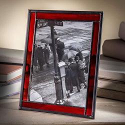 J Devlin Glass Art J Devlin Pic 325 57hv 5x7 Picture Frame Red
