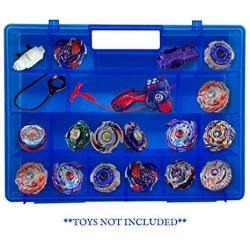 Life Made Better Blue Toy Storage Organizer 2.0 Newly Improved Durable Built In Handle Toy Storage Organizer Compatible With Beyblade Battle Box For Kids