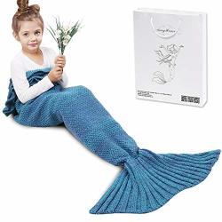 AmyHomie Mermaid Tail Blanket Mermaid Blanket Adult Mermaid Tail Blanket Crotchet Kids Mermaid Tail Blanket For Girls