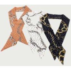 Joy Collectables Multi Colour Chain Detail Neckerchief